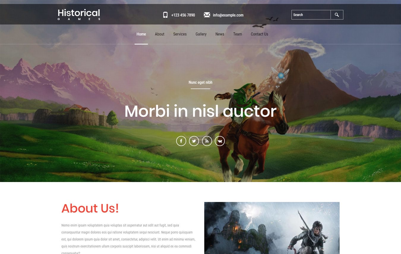 Historical Games a Games Category Flat Bootstrap Responsive Web Template Mobile website template Free