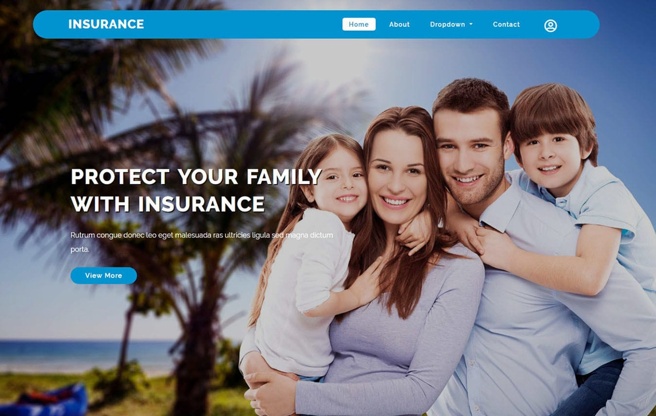 Insurance a Finance Category Bootstrap Web Template Mobile website template Free