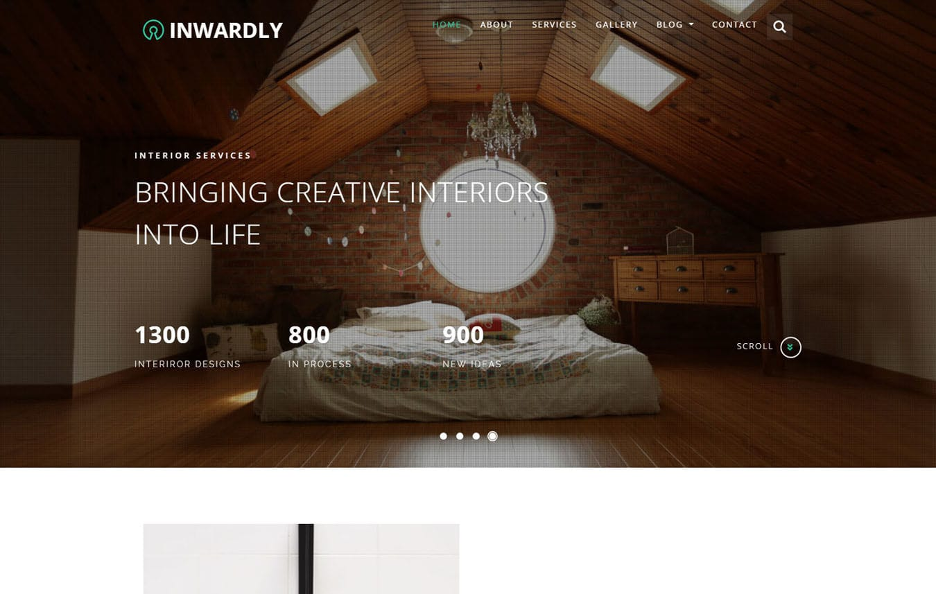 Inwardly Interior Category Bootstrap Responsive Web Template Mobile website template Free