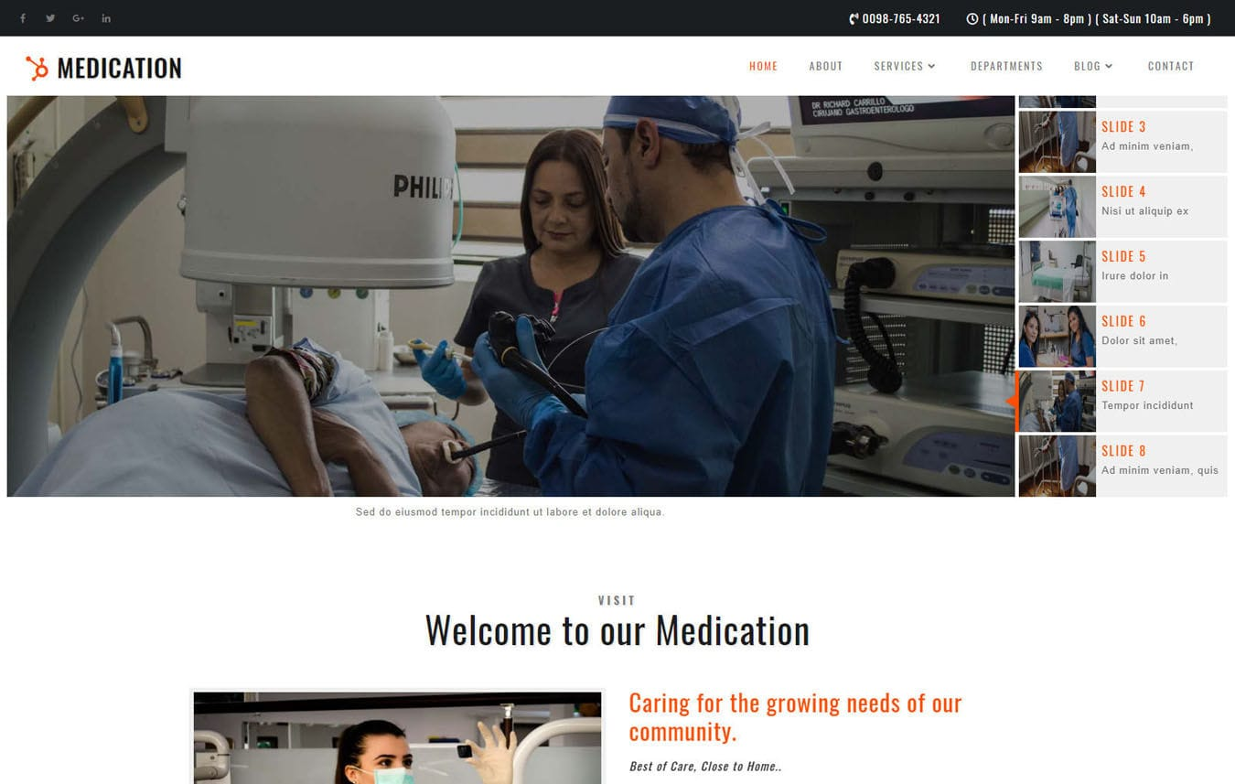 Medication Medical Category Bootstrap Responsive Web Template. Mobile website template Free