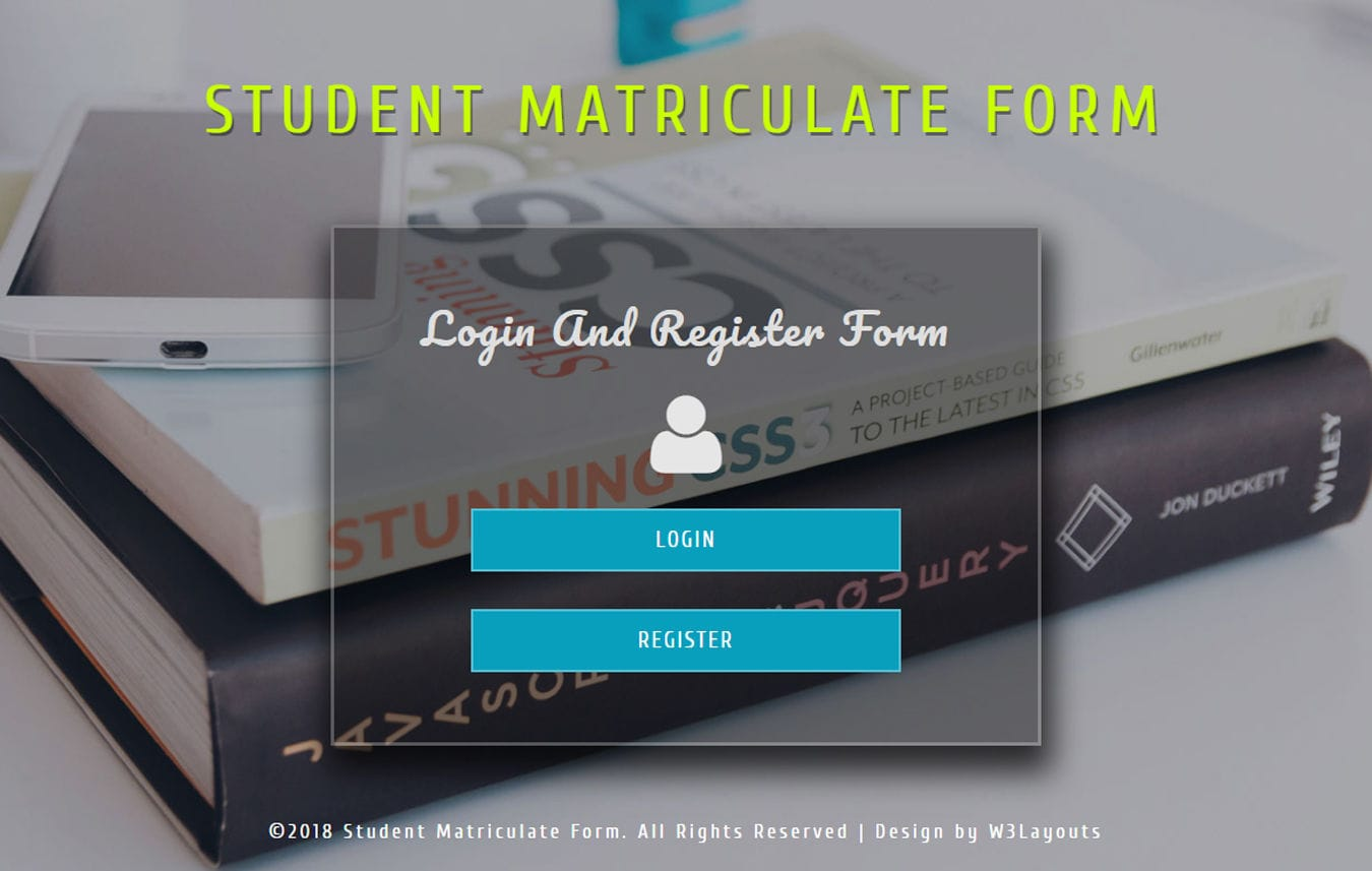 Student Matriculate Form Flat Responsive Widget Template Mobile website template Free