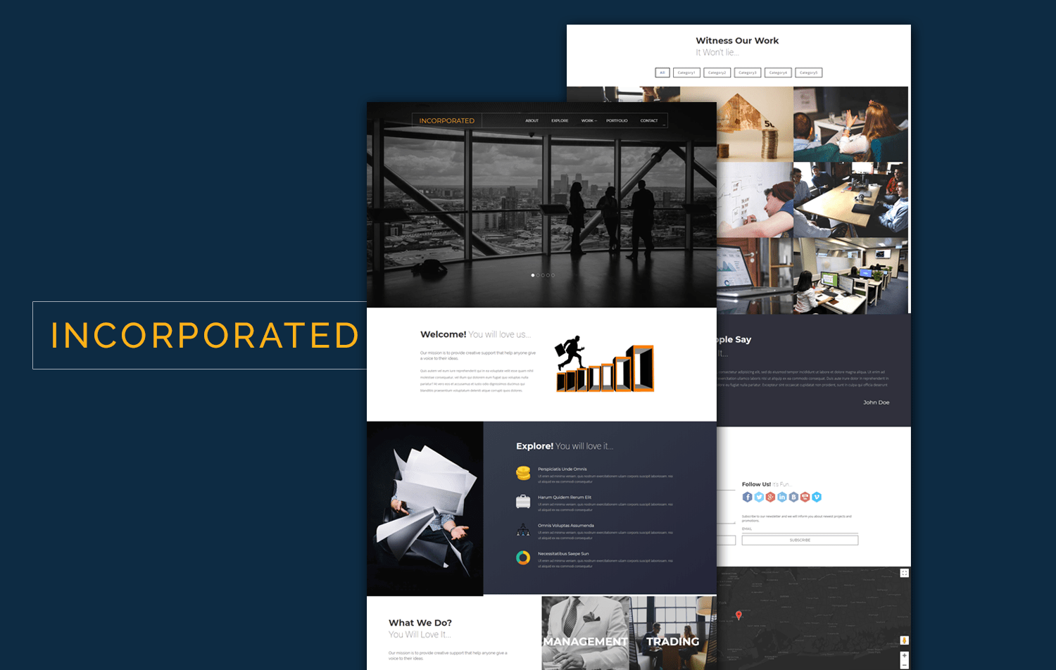 incorporated a corporate category flat bootstrap responsive web template mobile website template free - Free Responsive Website Templates