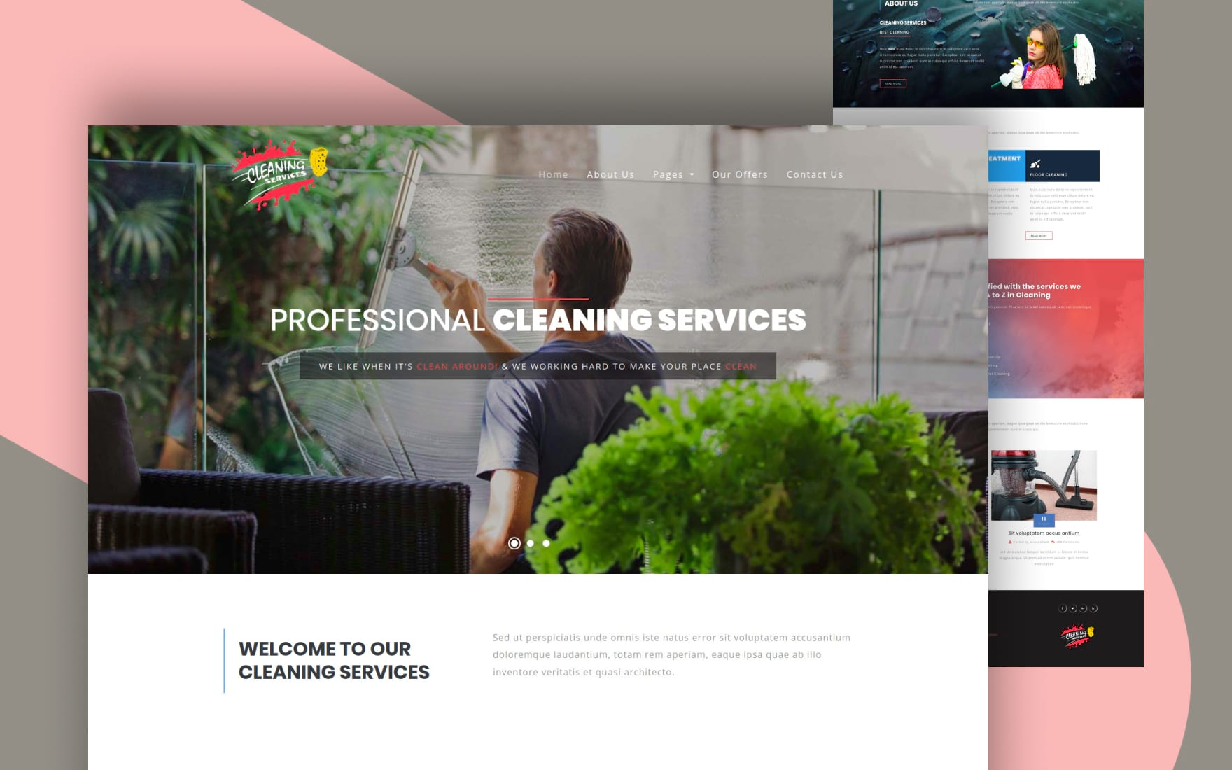 Cleaning Services Template House Keeping Web Template W3layouts