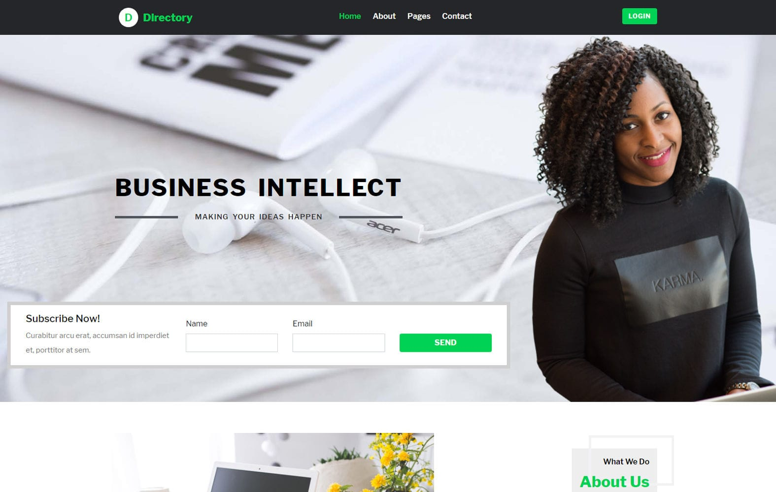 Corporate business mobile website templates directory a business category bootstrap web template mobile website template free accmission Image collections