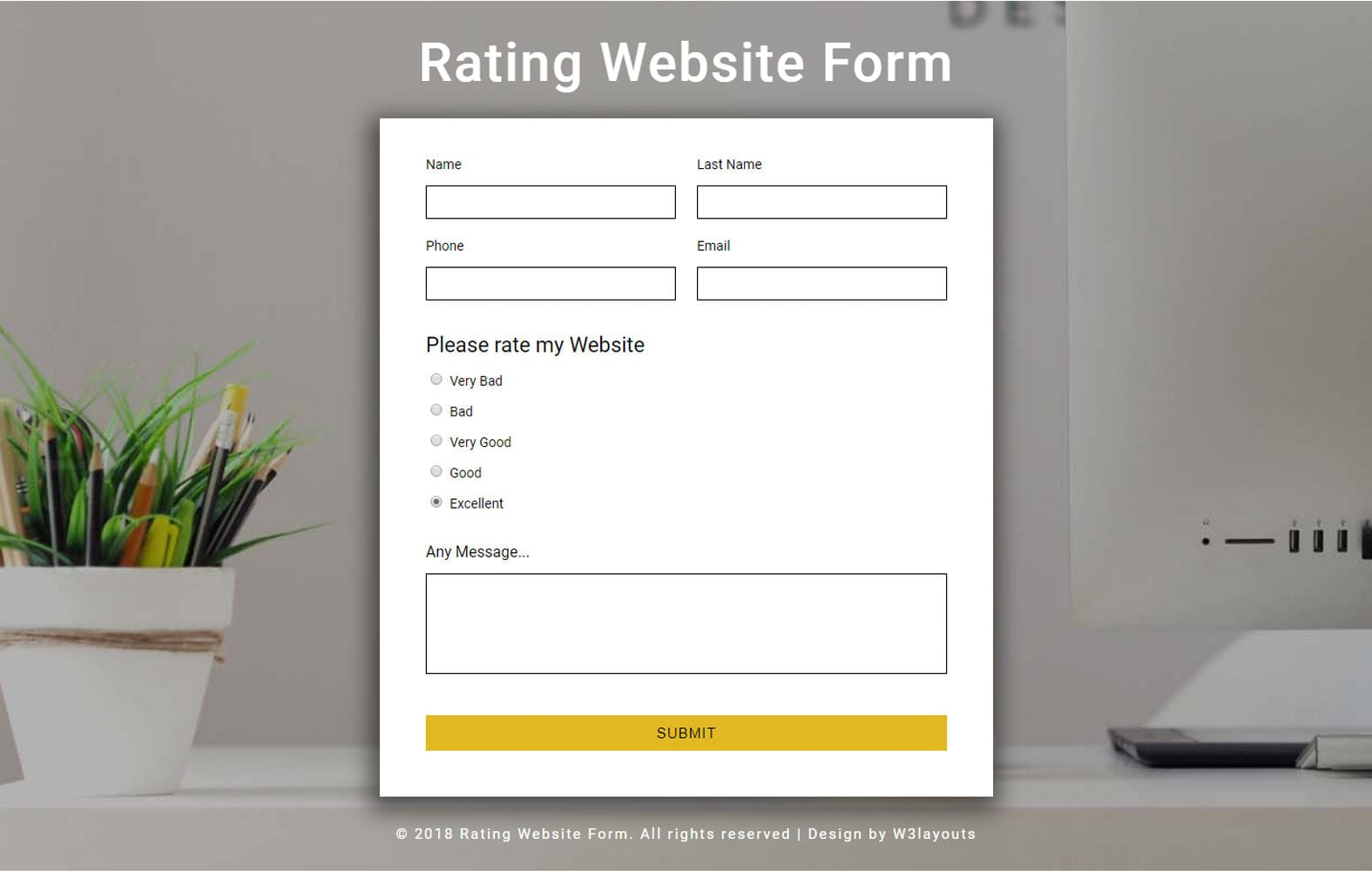 Rating Website Form Responsive Widget Template Mobile website template Free