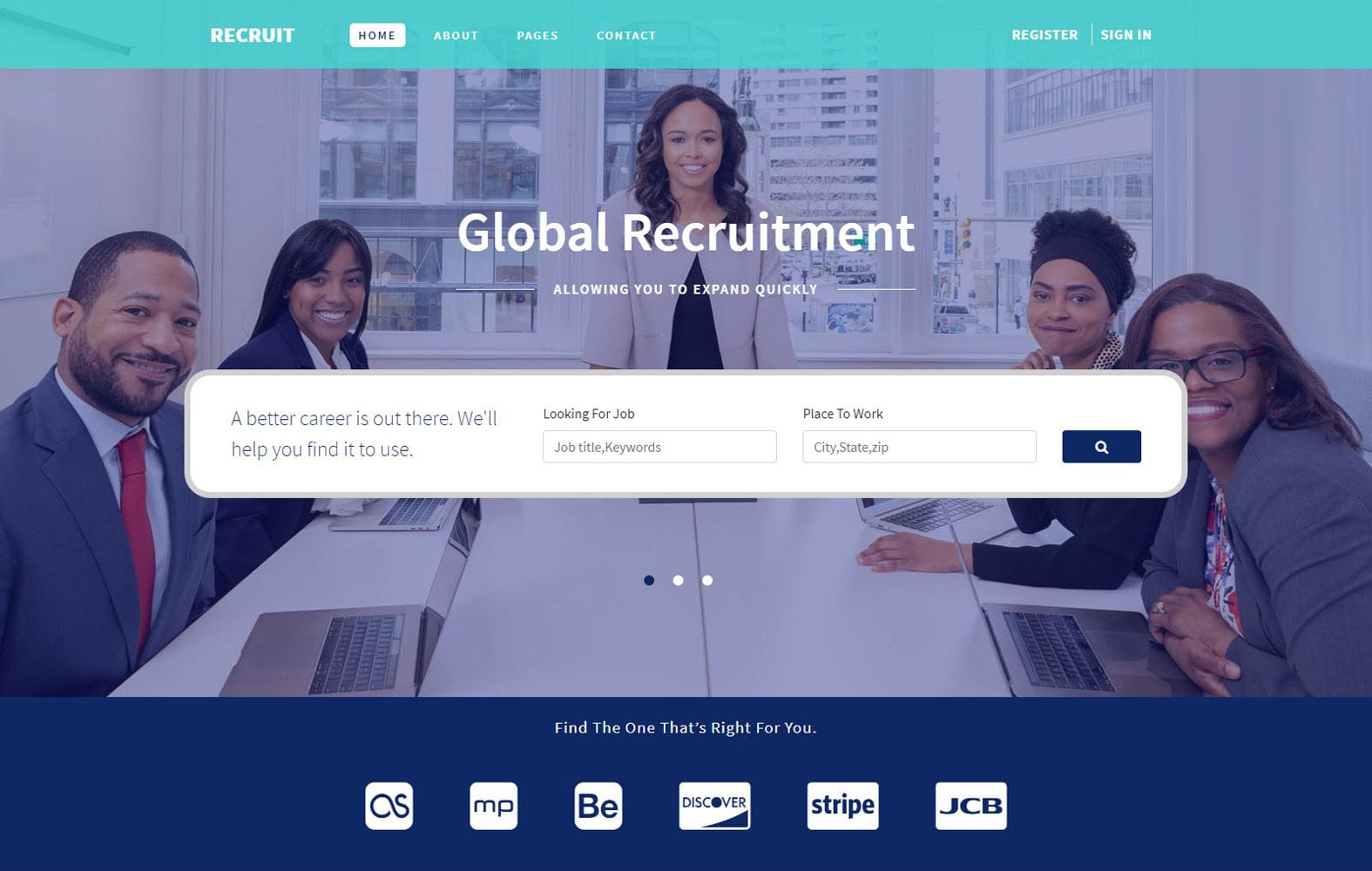 Recruit Human Resource Management Flat Bootstrap Responsive Web Template Mobile website template Free
