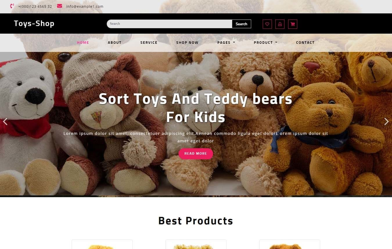 Toys Shop an Ecommerce Category Bootstrap Responsive Web Template Mobile website template Free
