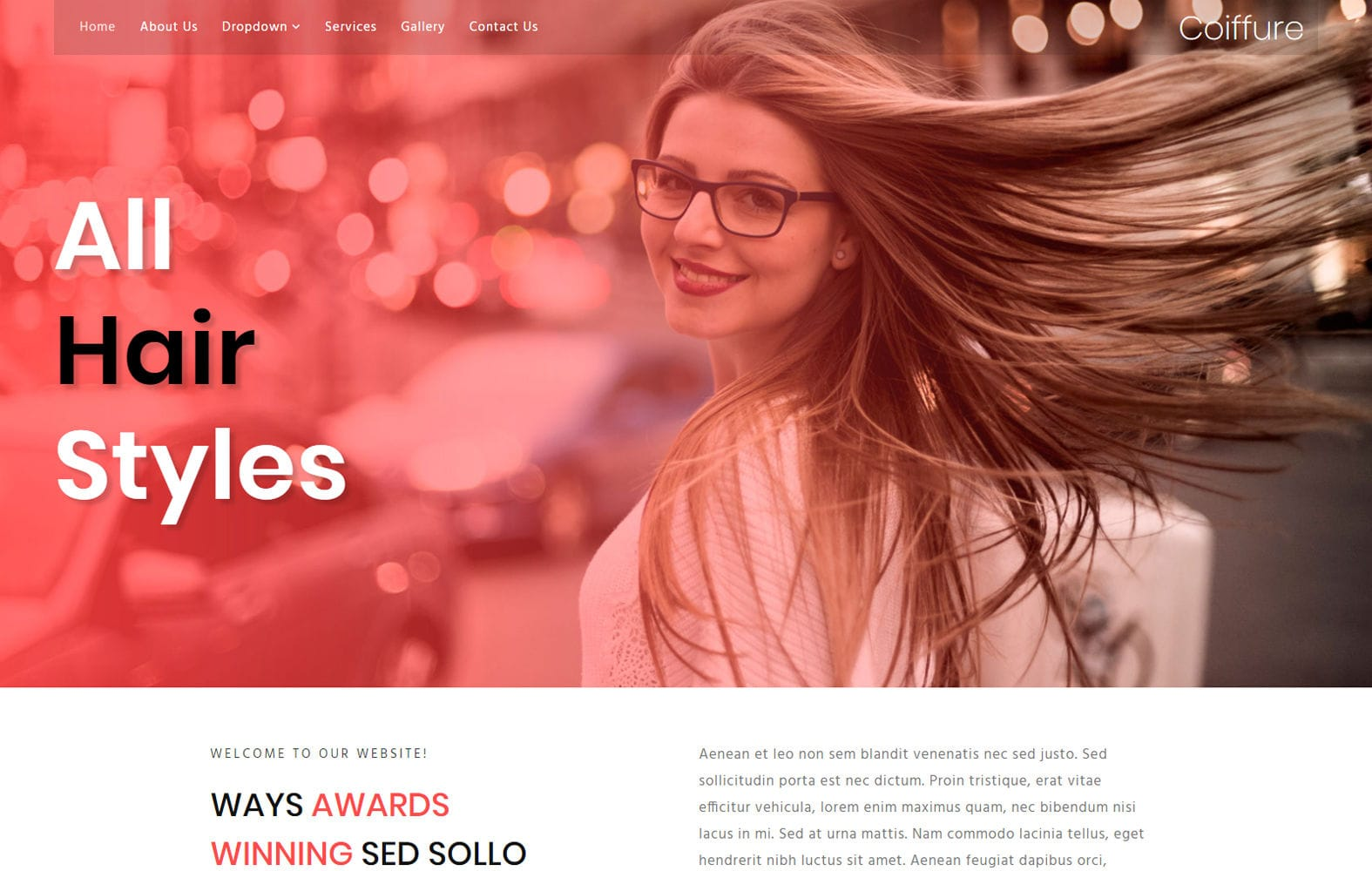 Coiffure Beauty and Spa Website Template , W3Layouts.com