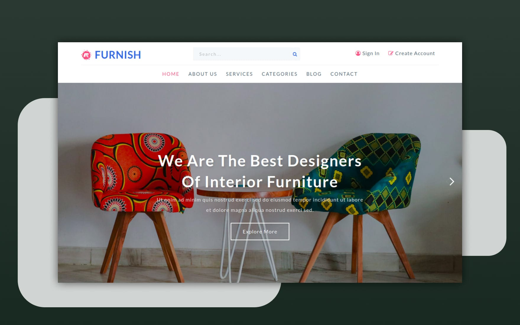 Furnish Interior and Furniture Website Template - W3Layouts