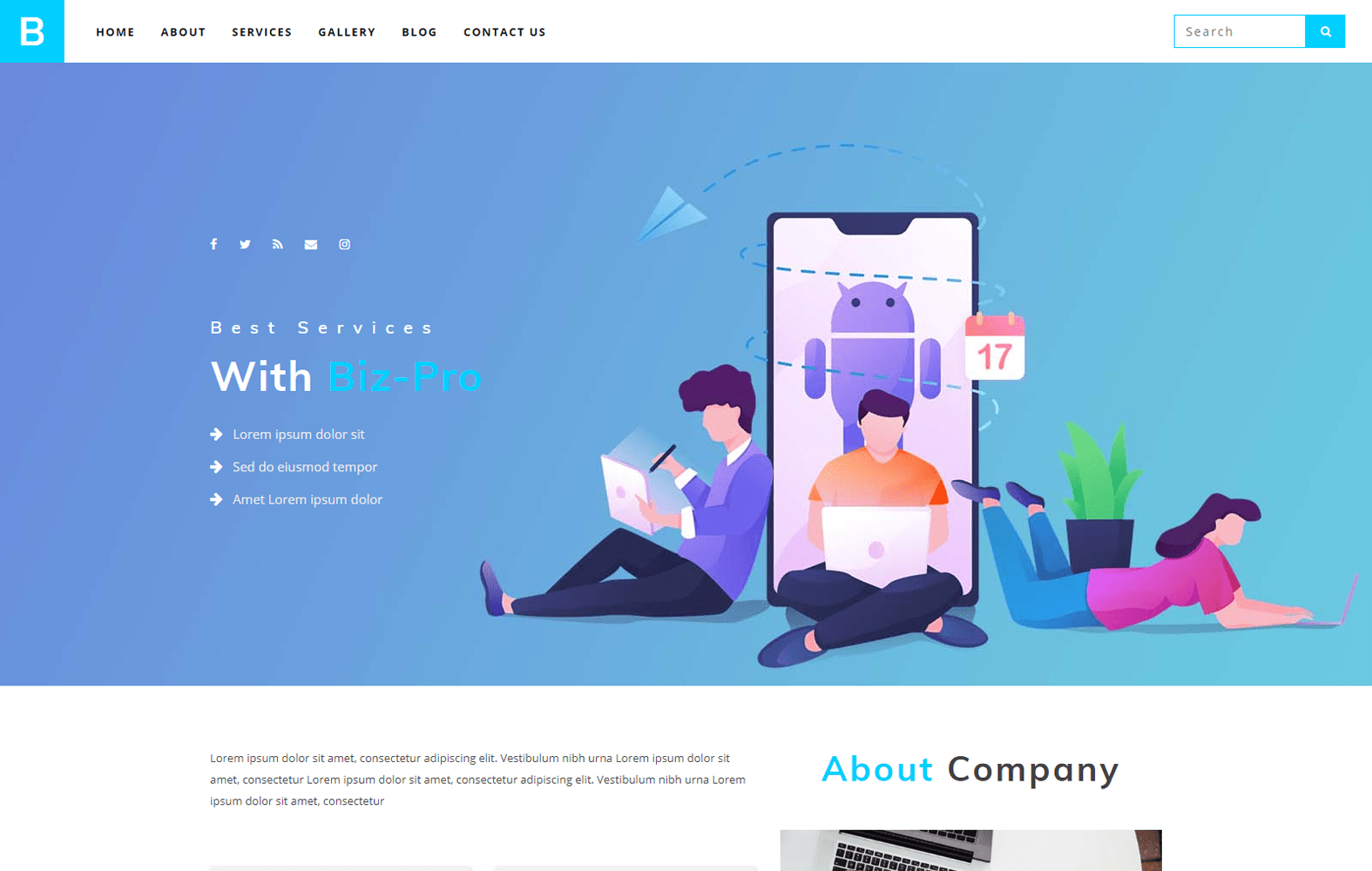 Biz Pro Corporate Business Website Template W3layoutscom