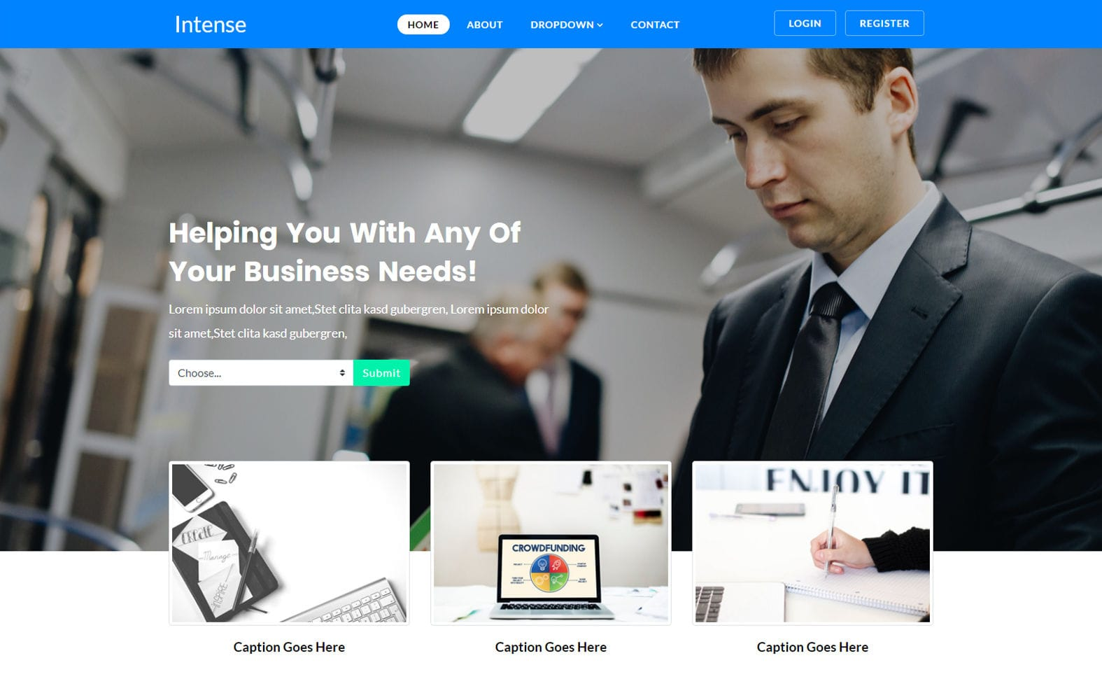 Intense Corporate Website Template W3layouts