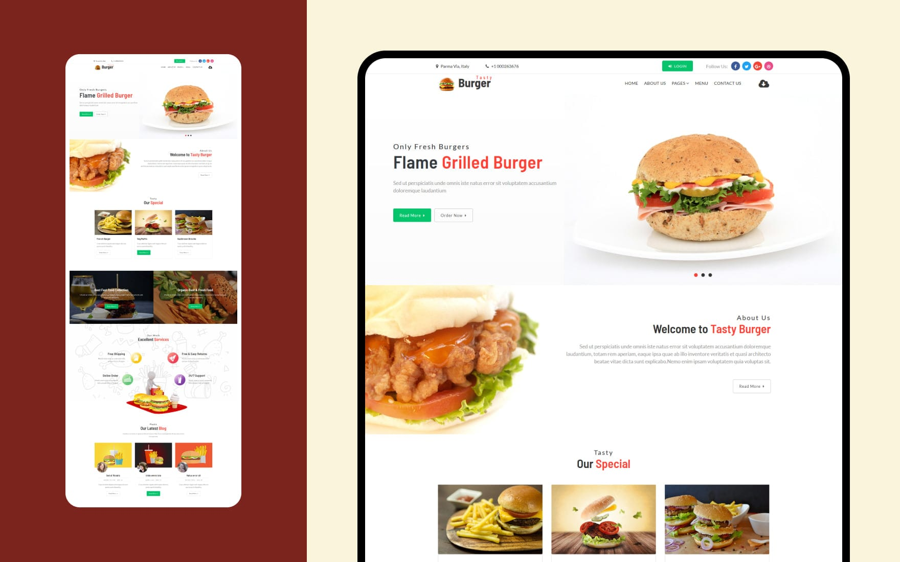 100 Amazing Websites For Restaurant W3layouts
