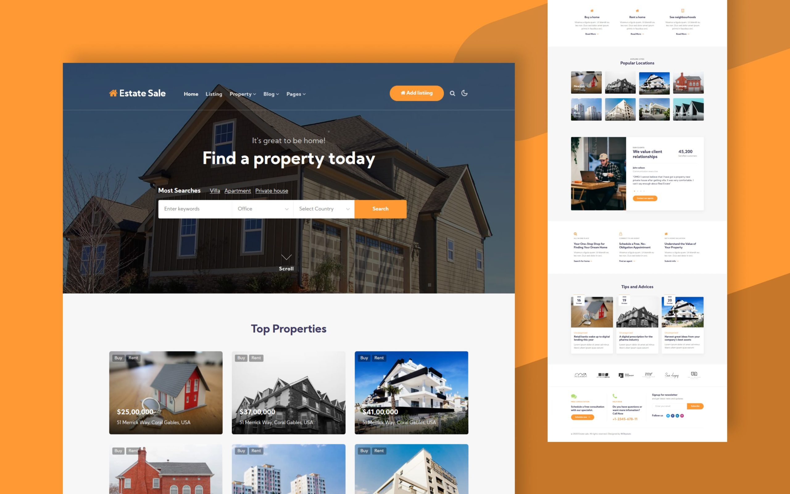 Estate Sale Website Template W3layouts
